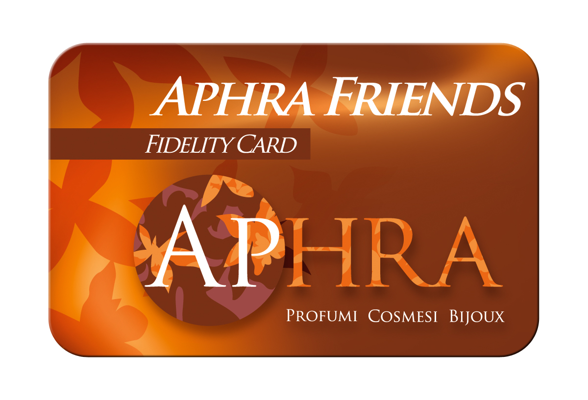 visual merchandising flyer e Fidelity Card Profumeria Aphra