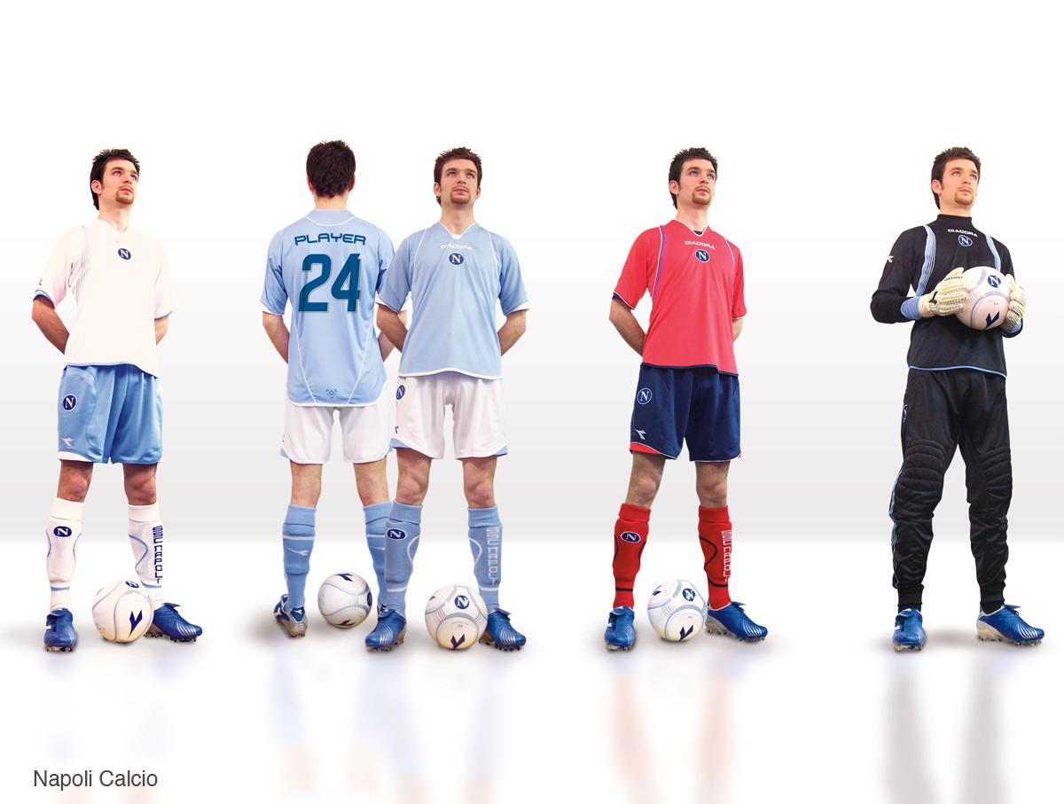 Design divise e kit da calcio ufficiale Napoli