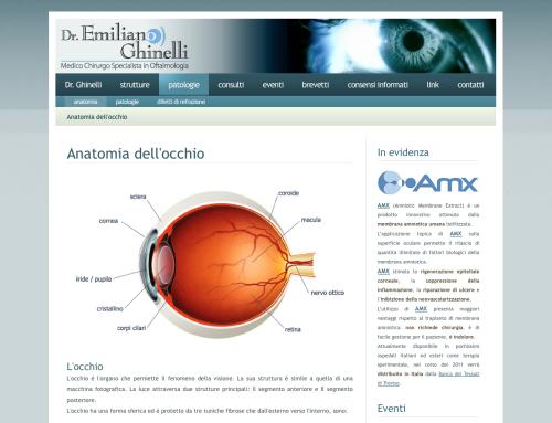 Sito web per medico chirurgo oftalmologo