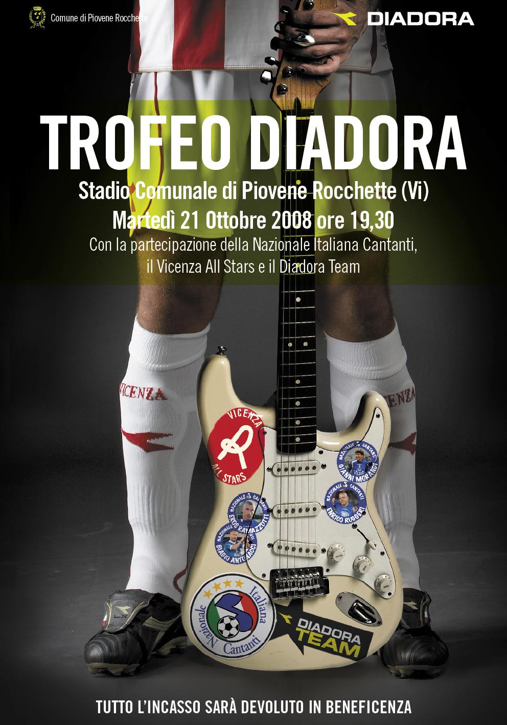 Promo Meeting: Locandina Trofeo Diadora-Nazionale-cantanti