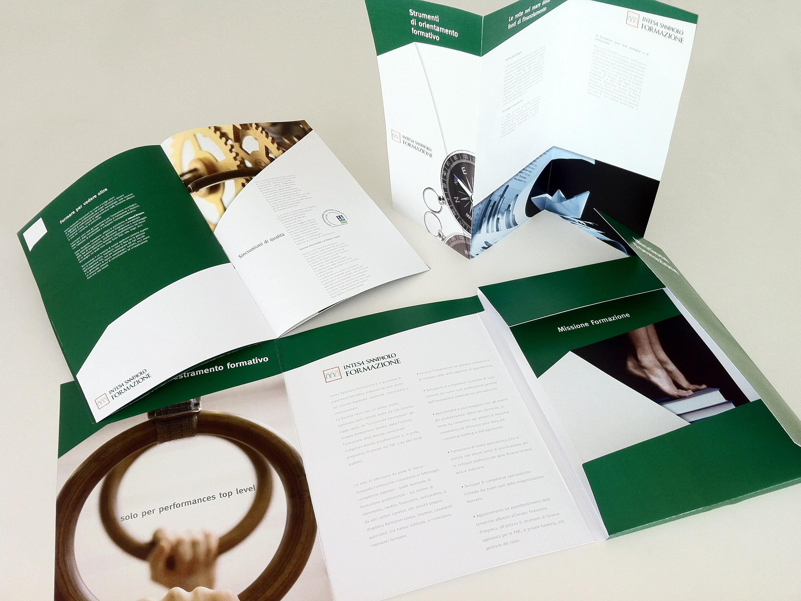 Materiale promozionale per Intesa SanPaolo formazione