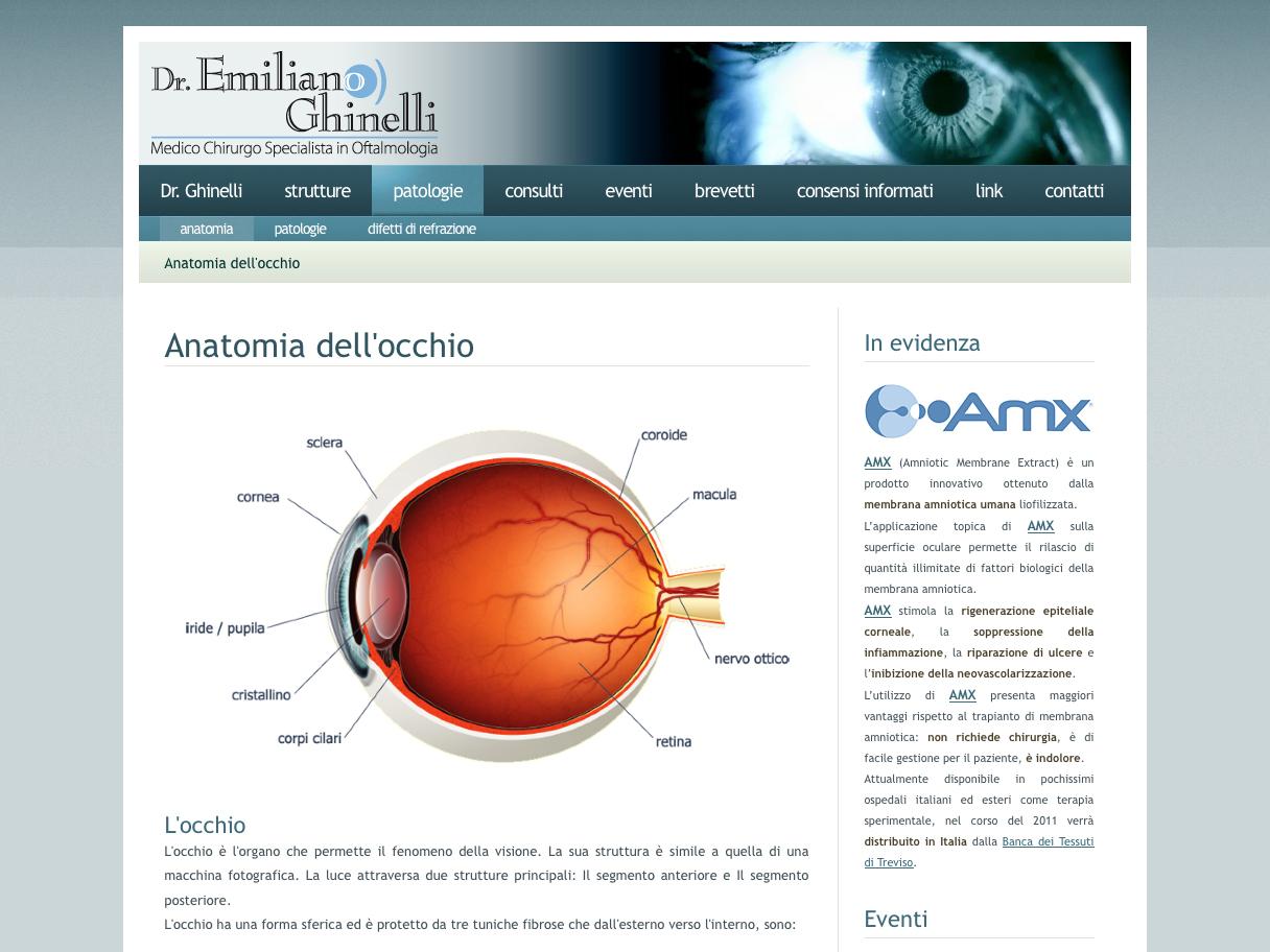 Web design: Sito internet Dott. Ghinelli