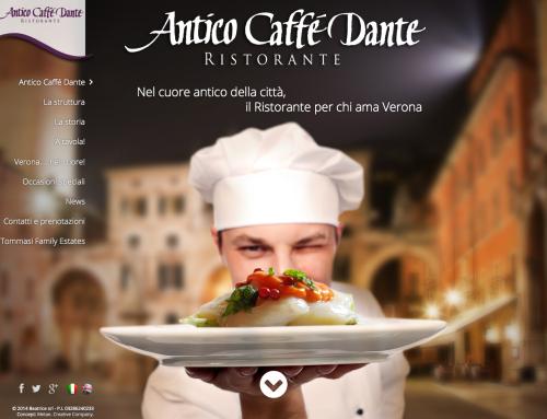 Website restaurant Antico Caffé Dante