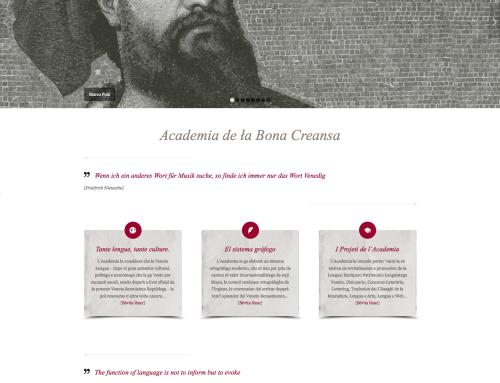 Sito web Academia de ła Bona Creansa